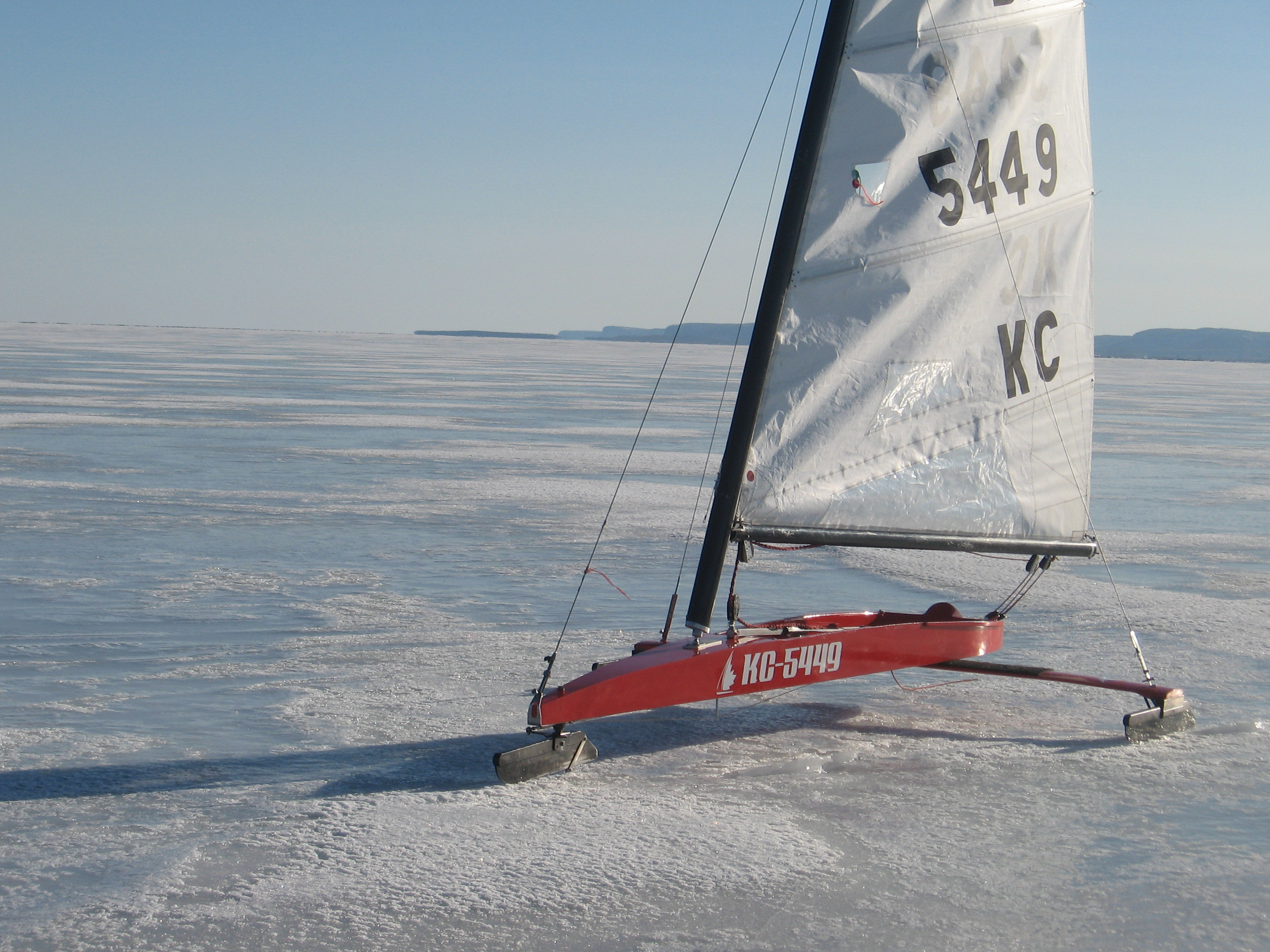 Boat on ice for Ice scratcher boat motor for sale