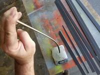 "Testing batten stiffness on new carbon/basswood battens for C-Skeeter ""Drifter"""