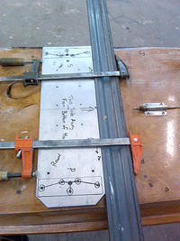 Plank hardware locating jig