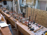 Never too many clamps - plank building edition...