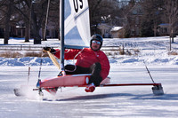 Ken Smith rounding turn one at the 2009 St. Paul Winter Carnival
