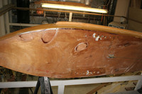 The bottom of the boat is almost done.