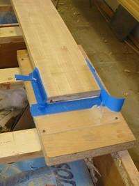 Casting an epoxy chock wedge