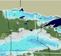 12/22/06 Minnesota Snow Depth Map